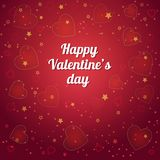 Fantasy Valentines day romantic design on a royal red background vector illustration