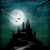Fantasy Vector Castle Moonlight Sky Royalty Free Stock Photo