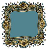 Fantasy vector decorative frame background. With place for your text Royalty Free Stock Photo