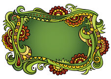 Fantasy vector fairy-tale floral frame Stock Image