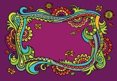 Fantasy vector fairy-tale floral frame. Fantasy vector fairy tale floral colorful frame Royalty Free Stock Photo