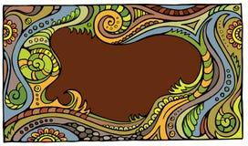 Fantasy vector fairy-tale floral frame. Fantasy vector fairy tale floral colorful frame Stock Photos