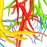 Fantasy veins. Medical illustration Royalty Free Stock Photo