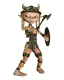 Fantasy viking 2. 3D render of a cute fantasy viking with an axe and a shield Stock Photo