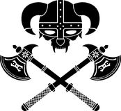 Fantasy viking helmet. Illustration Royalty Free Stock Images