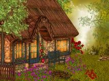 Fantasy village house Stock Photos