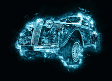 Fantasy vintage car Royalty Free Stock Photography