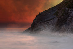 Fantasy volcanic landscape Royalty Free Stock Photos