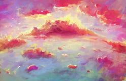 Fantasy Wallpaper of Scenic Sunset Royalty Free Stock Image