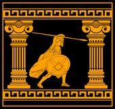 Fantasy warrior with columns Royalty Free Stock Photos