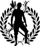 Fantasy warrior with laurel wreath Royalty Free Stock Photo
