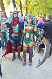 Fantasy warriors at Lucca Comics and Games 2014 Stock Photography