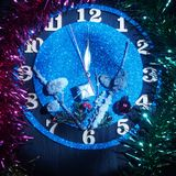 Fantasy watch. Arrows show about twelve hours. Soon the new year. Still life royalty free stock photos