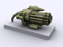 Fantasy weapon. A fantasy weapon containing a musket, a gatling gun, a lazercannon and an all powerfull rocket launcher. created in 3dsmax Stock Photography