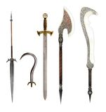 Fantasy Weapons Stock Images