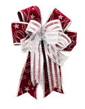 Fantasy white and red ribbon Royalty Free Stock Images