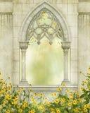 Fantasy window Royalty Free Stock Image