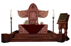 Fantasy winged altar Royalty Free Stock Images