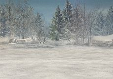 Fantasy Winter Background Royalty Free Stock Photography