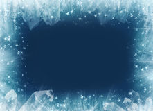 Fantasy winter frame.... Royalty Free Stock Images