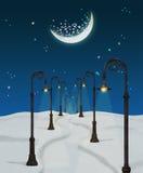 Fantasy winter night royalty free illustration