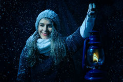 Fantasy winter portrait. Royalty Free Stock Photo