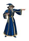 Fantasy Wizard on White Stock Image