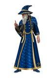 Fantasy Wizard on White Stock Photo