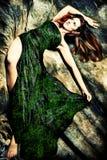 Fantasy woman. Fantasy redhead woman, studio shot Royalty Free Stock Image