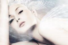 Fantasy woman. Beautiful fantasy woman portrait composite photo Stock Images
