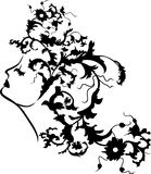 Fantasy woman floral face Stock Photography