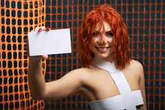 Fantasy woman posing Royalty Free Stock Image