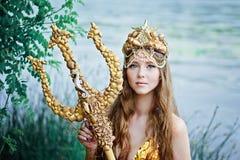 Fantasy woman real mermaid myth goddess of sea