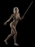 Fantasy Woman with Sword Stock Photos