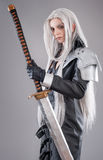 Fantasy woman warrior Stock Photo