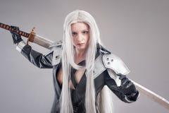 Fantasy woman warrior Stock Photos