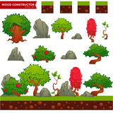 Fantasy wood constructor for your mobile or computer game Royalty Free Stock Image