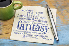 Fantasy word cloud Royalty Free Stock Photos