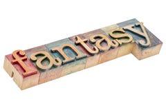 Fantasy word in woo dtype Stock Images