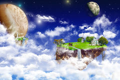 Fantasy world. A little imagination. look in the utopian world Royalty Free Stock Photos