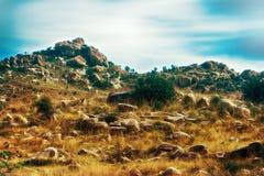 Fantasy world. Fabulous unusual mountain landscape Stock Images