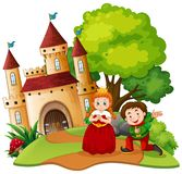 A fantasy world on white background. Illustration stock illustration