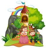 A fantasy world on white background. Illustration vector illustration