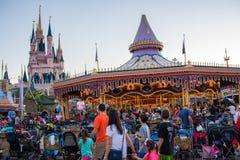 Fantasyland på det magiska kungariket, Walt Disney World Arkivbilder