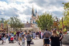 Fantasyland przy Magicznym królestwem, Walt Disney świat Fotografia Royalty Free
