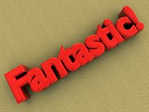 'fantatstic' logo on carpet vector illustration