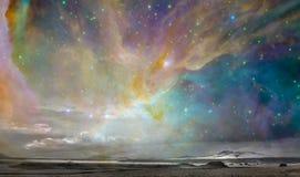 Fantazi żywy niebo ilustracji