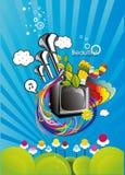 fantazi abstrakcjonistyczna ilustracja tv royalty ilustracja