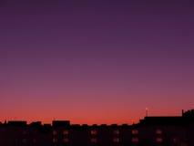 Fantazi linii horyzontu miasto Obrazy Stock