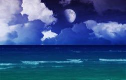 Fantazi morza noc Zdjęcia Royalty Free